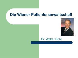 Die Wiener Patientenanwaltschaft