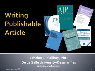 Writing Publishable Article