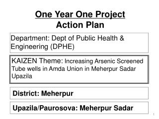 One Year One Project  Action Plan