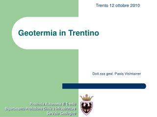 Geotermia in Trentino