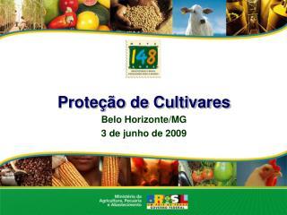 Proteção de Cultivares Belo Horizonte/MG 3 de junho de 2009
