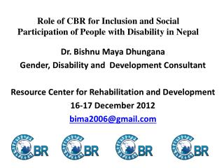 Role of CBR for Inclusion and Social Participation of People with Disability in Nepal