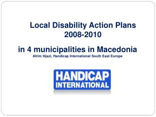 Local Disability Action Plans 2008-2010