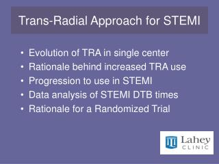 Trans-Radial Approach for STEMI