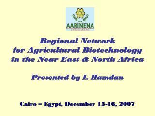 Cairo – Egypt, December 15-16, 2007
