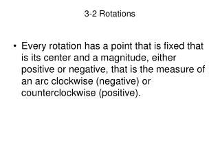 3-2 Rotations