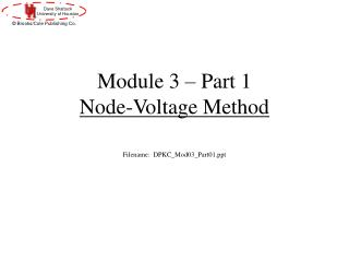 Module 3 – Part 1 Node-Voltage Method