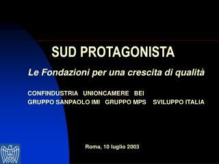 SUD PROTAGONISTA