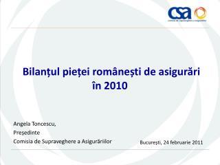 Bilanțul pieței românești de asigurări în 2010