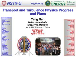 Transport and Turbulence Physics Progress and Plans