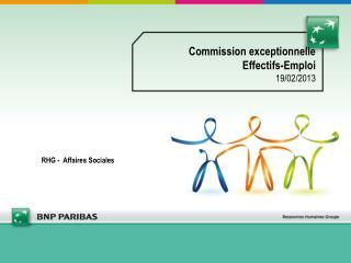 Commission exceptionnelle  Effectifs-Emploi 19/02/2013