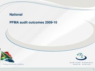 National PFMA audit outcomes 2009-10