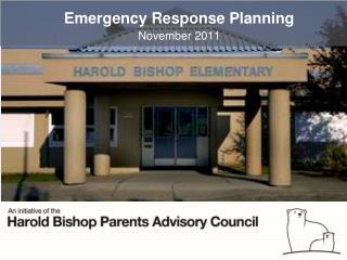 Emergency Response Planning November 2011