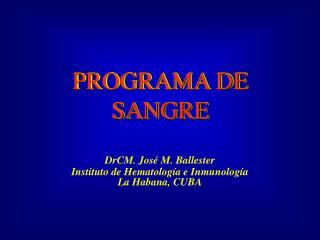 PROGRAMA DE SANGRE