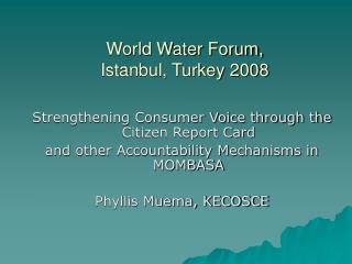 World Water Forum,  Istanbul, Turkey 2008