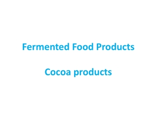 Production of cocoa powder