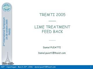 TREMTI 2005 ___ LIME TREATMENT FEED BACK ______