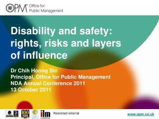 Disability and safety: rights, risks and layers of influence