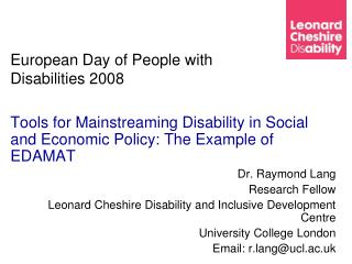 European Day of People with Disabilities 2008