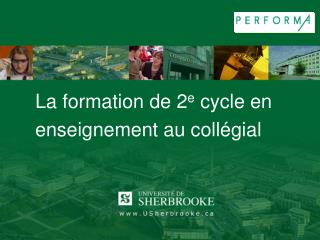 La formation de 2 e  cycle en enseignement au coll�gial