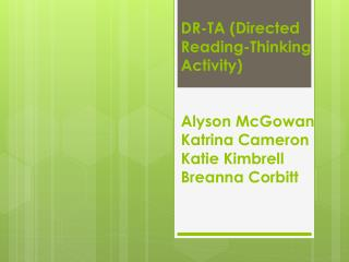 DR-TA has been designed to help students take responsibility for their own learning.