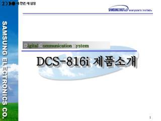 DCS-816i  제품소개