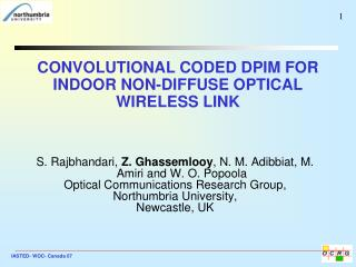CONVOLUTIONAL CODED DPIM FOR INDOOR NON-DIFFUSE OPTICAL WIRELESS LINK