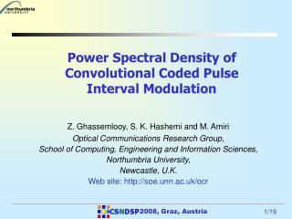 Power Spectral Density of Convolutional Coded Pulse Interval Modulation