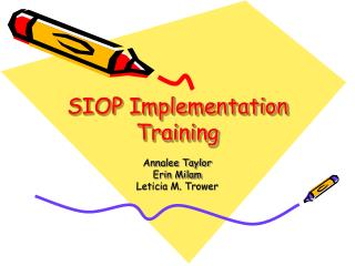 SIOP Implementation Training
