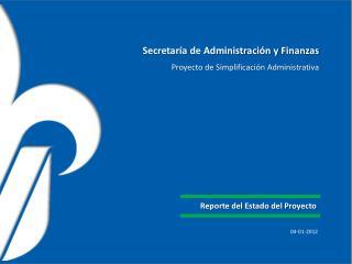 Secretaría de Administración y Finanzas