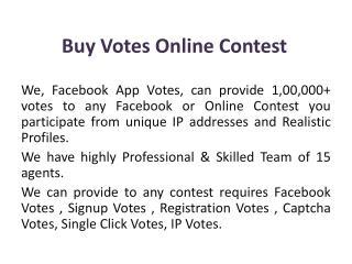 Buy Votes Online Contest