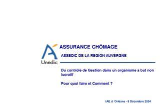 ASSEDIC DE LA REGION AUVERGNE