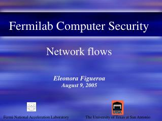Fermilab Computer Security Network flows