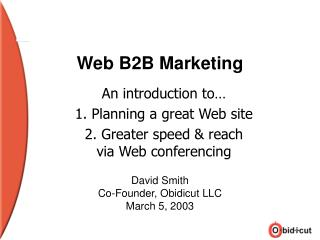 Web B2B Marketing
