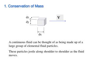 1. Conservation of Mass