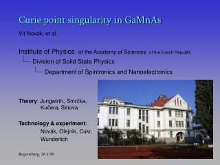 Curie point singularity in GaMnAs