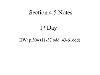 Section 4.5 Notes