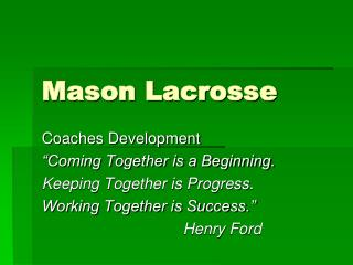 Mason Lacrosse