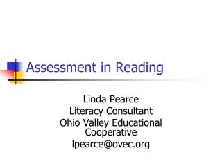 Assessment in Reading