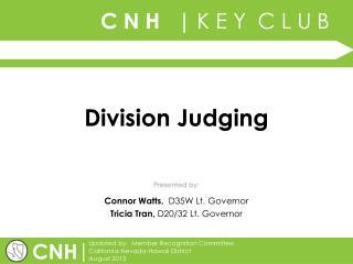 Division Judging