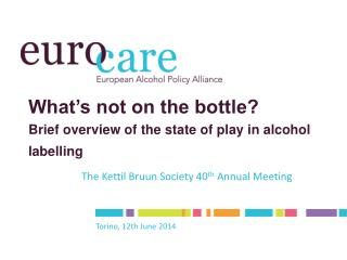 What's not on the bottle? Brief overview of the state of play in alcohol labelling