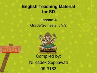 English Teaching Material for SD
