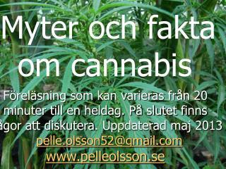 Myter och fakta om cannabis