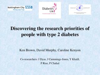 Discovering the research priorities of people with type 2 diabetes
