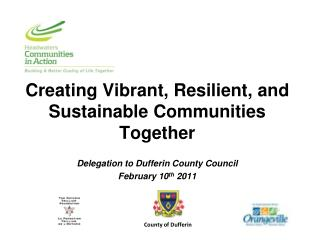 Creating Vibrant, Resilient, and Sustainable Communities Together