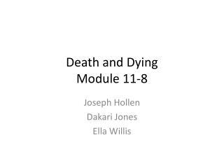 Death and Dying Module 11-8