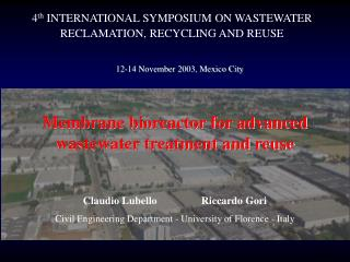 Membrane bioreactor for advanced wastewater treatment and reuse