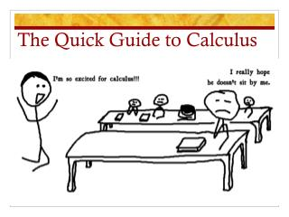 The Quick Guide to Calculus
