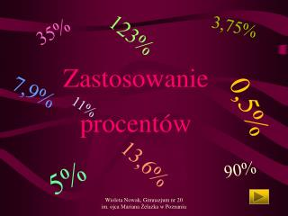 Zastosowanie  procentów