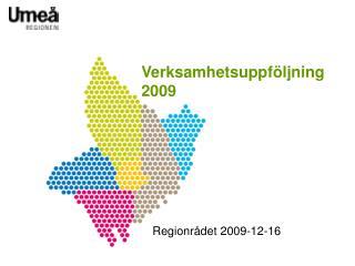 Verksamhetsuppf�ljning 2009
